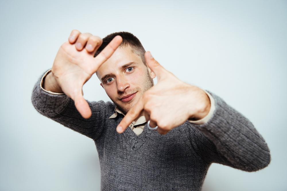Sign Language Interpreter Framing Their Work