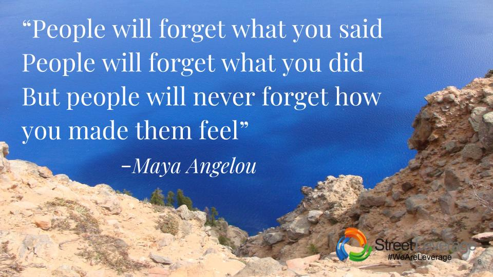 Maya Angelou - People will forget what you said