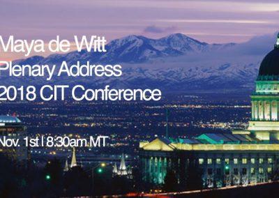 Maya de Witt - 2018 CIT Plenary Address