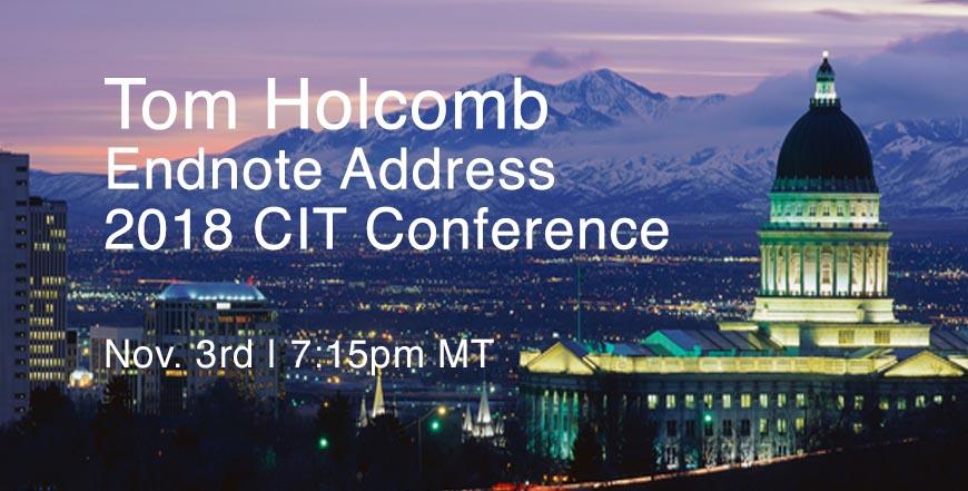 Tom Holcomb - Endnote Address